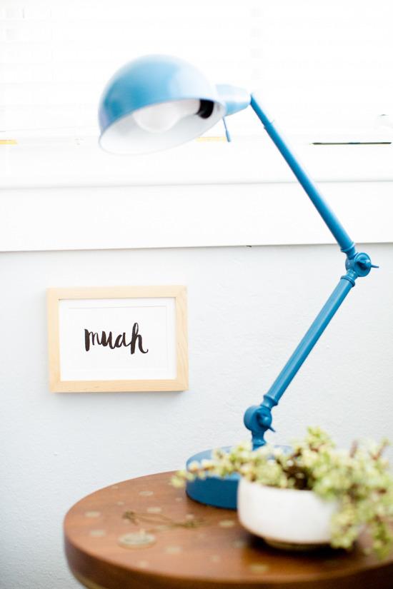DIY Spray Painted Bedside Light