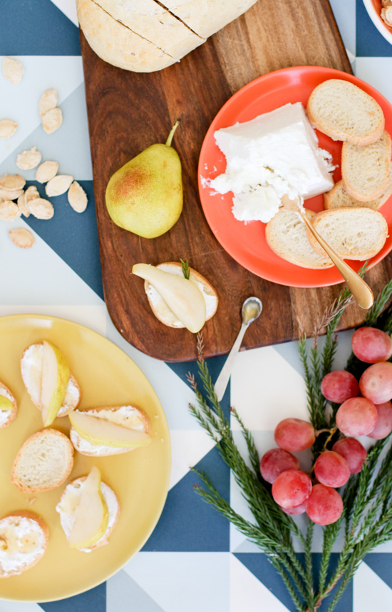Pear Goat Cheese Crostini Recipe