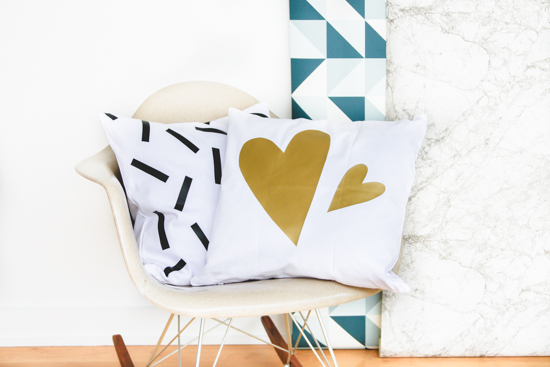 DIY Patterned Pillow Project with Iron On Vinyl