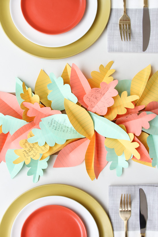 Thanksgiving Table Runner Idea