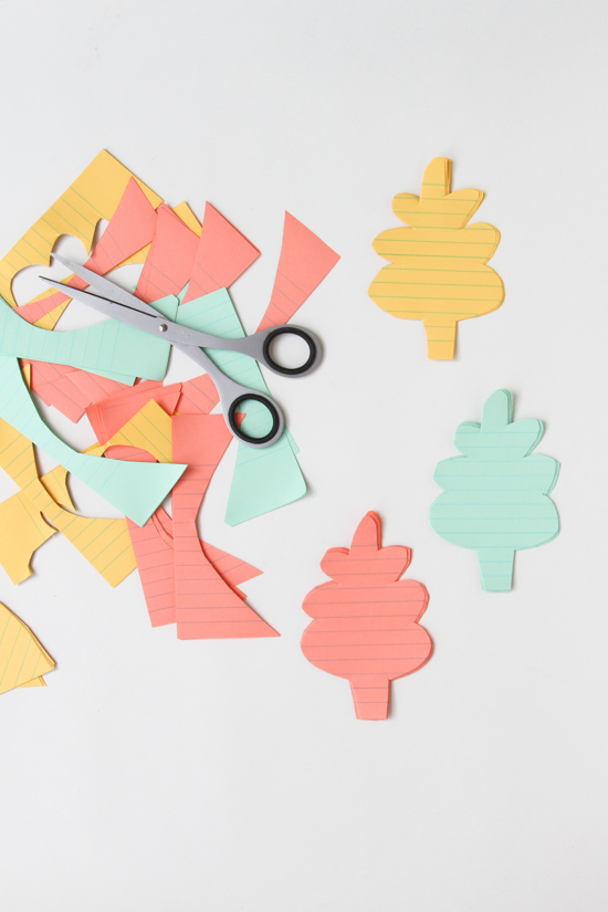 Cut Paper Leaves for Thanksgiving