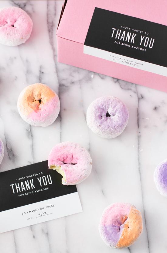 DIY Color Blocked Donuts