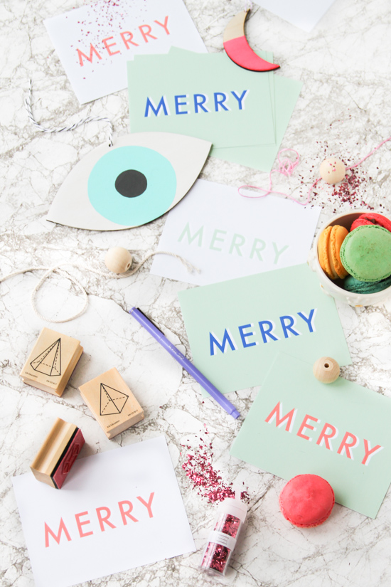 DIY Holiday Postcards (Printable)