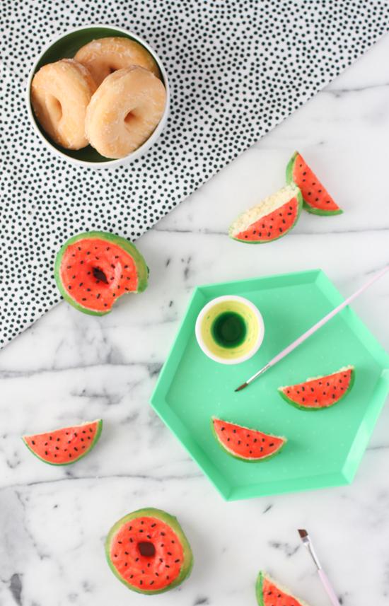 Watermelon Donuts