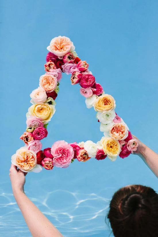 DIY Geometric Flower Wreath