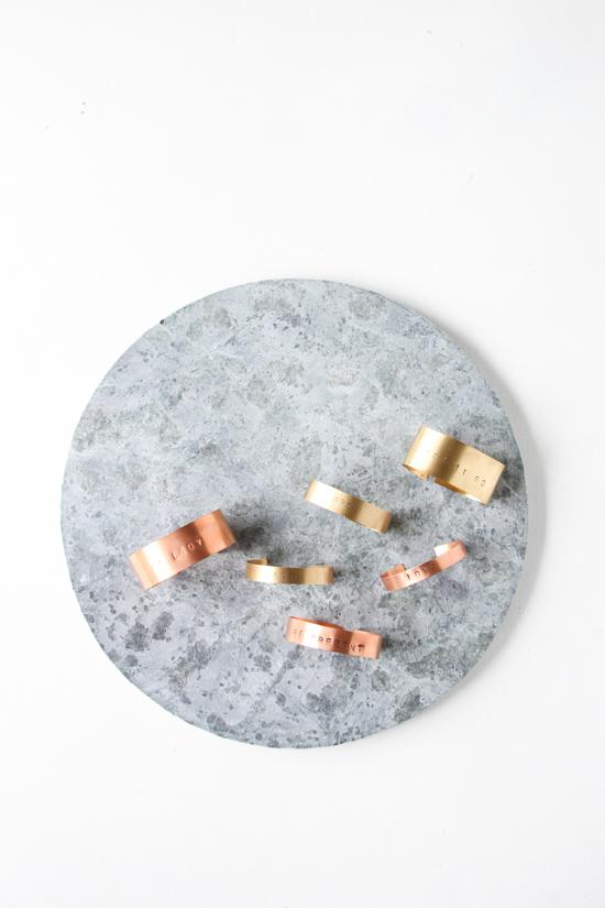 Stamped Metal Bracelet DIY