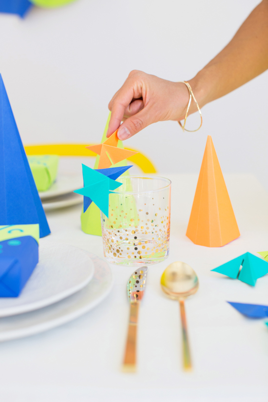 DIY // 3D Paper Drink Markers