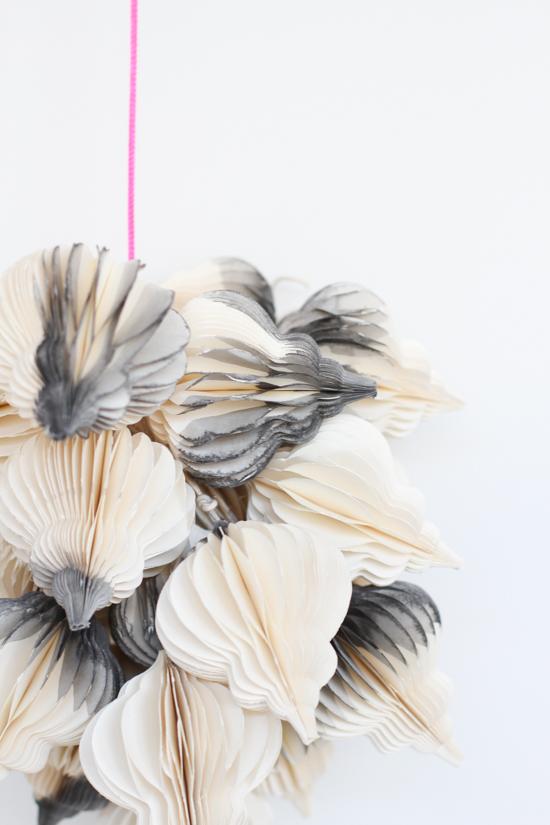 DIY // Dip Dyed Modern Hanging Holiday Decor