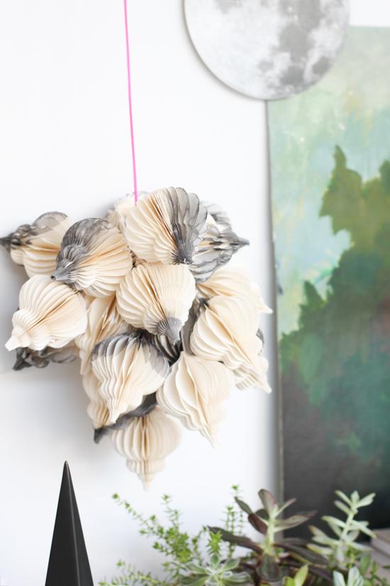 DIY // Modern Dip Dyed Hanging Holiday Decor