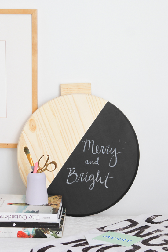 Weekend DIY to Try: Giant Color Blocked Wall Ornament Message Board - Paper and Stitch