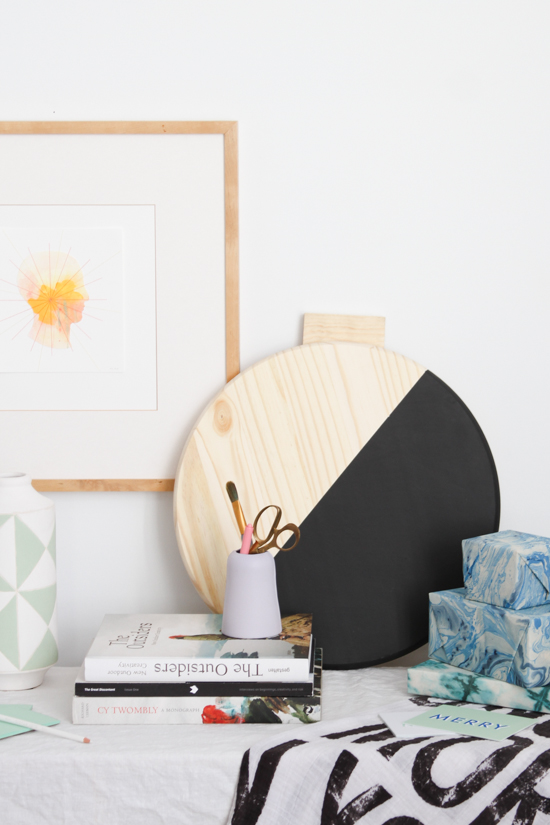 Holiday DIY // Giant Color Blocked Wall Ornament