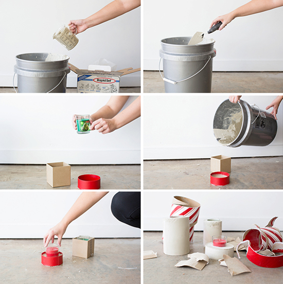 How To Make Large Cement Votives For Candles