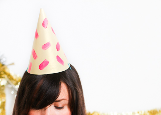 DIY Party Ideas for New Year's Eve // Leather Party Hat