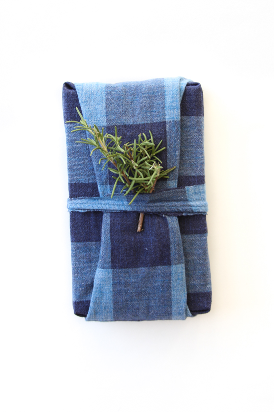 DIY Fabric-Wrapped Holiday Gift Idea