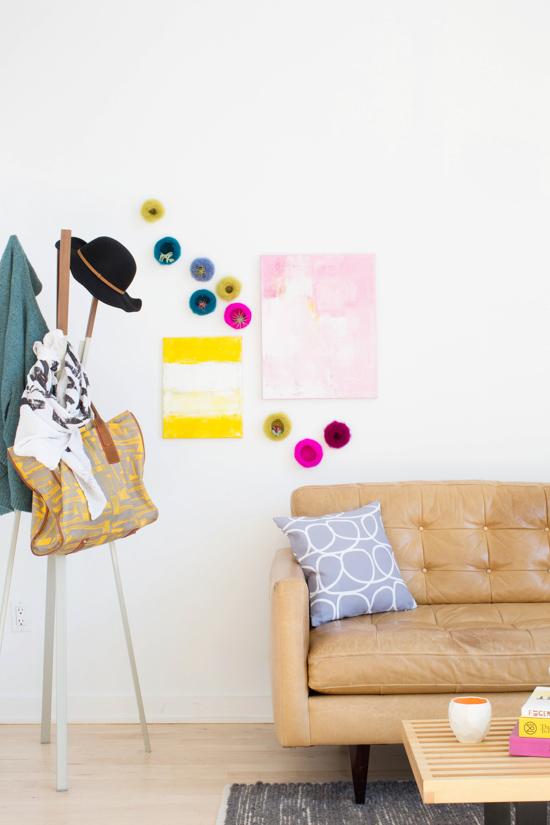 A color-filled living room