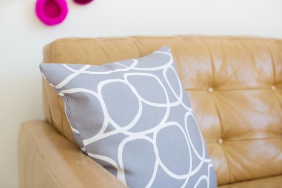 Grey Loop Pillow