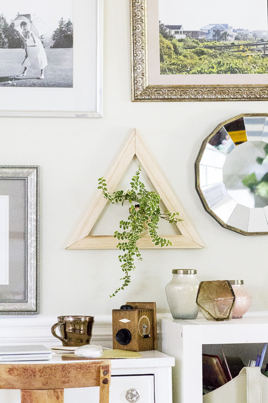 DIY Triangle Planter