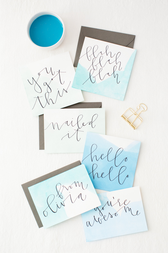 Oh My Dip Dye Watercolor Stationery Diy Paper And Stitch