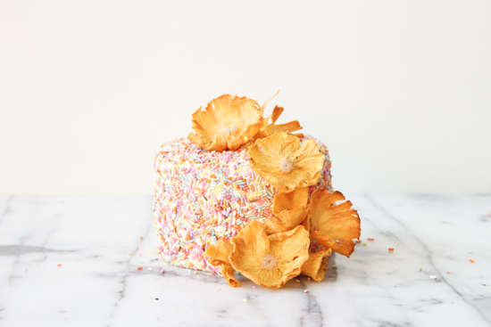 DIY Pineapple Flower Cake Toppers