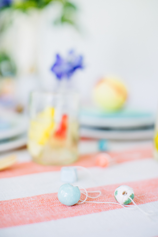Clay garlands for a colorful DIY Galentine's Day party