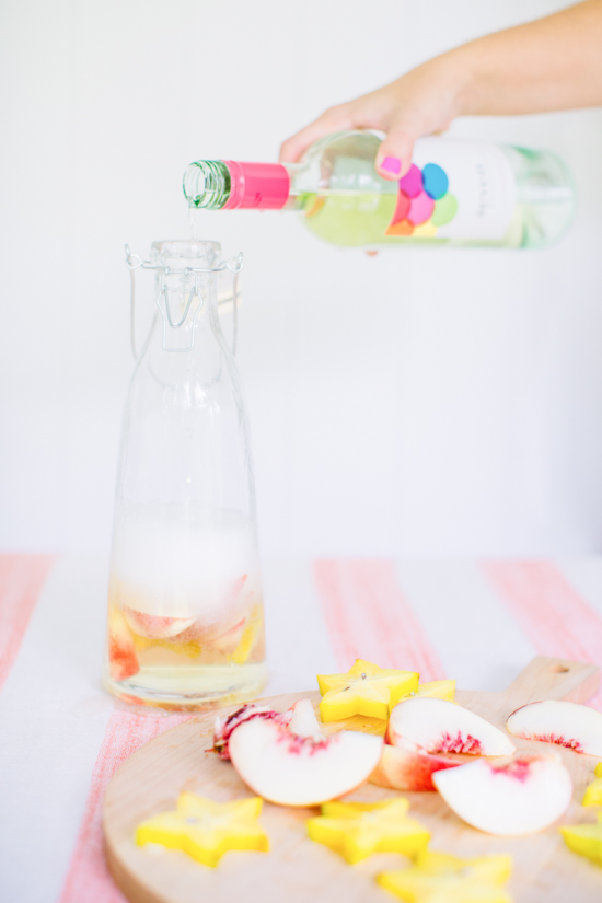 Sangria Blanca Cocktail Recipe with Seven Daughters Wine