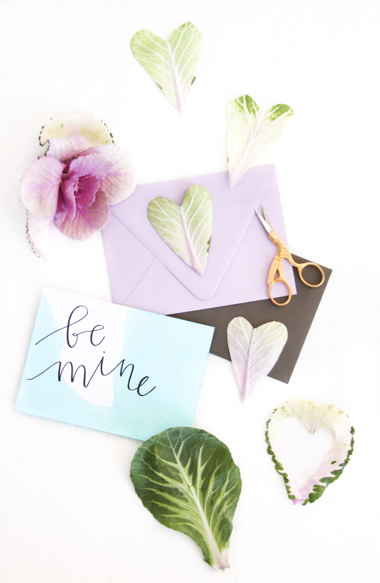 DIY Idea // Leafy Heart Cut Outs for V-Day
