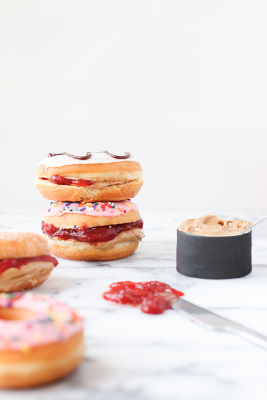 Peanut Butter and Jelly Donut Sandwich