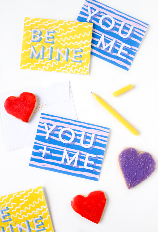 Printable DIY Note Cards for Valentine's Day