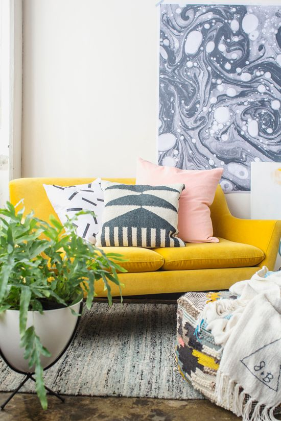 Midcentury meets eclectic modern interior