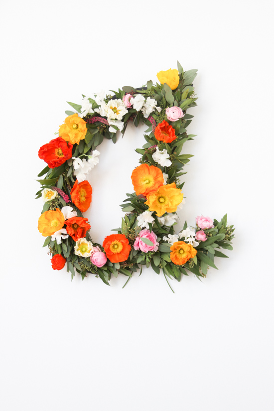 A is for Art: DIY Giant Floral Typography Wall Art