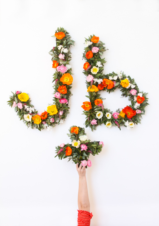 Giant Floral Typography Wall Art DIY