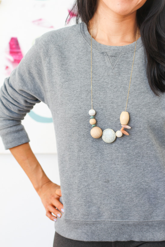 DIY Asymmetrical Necklace