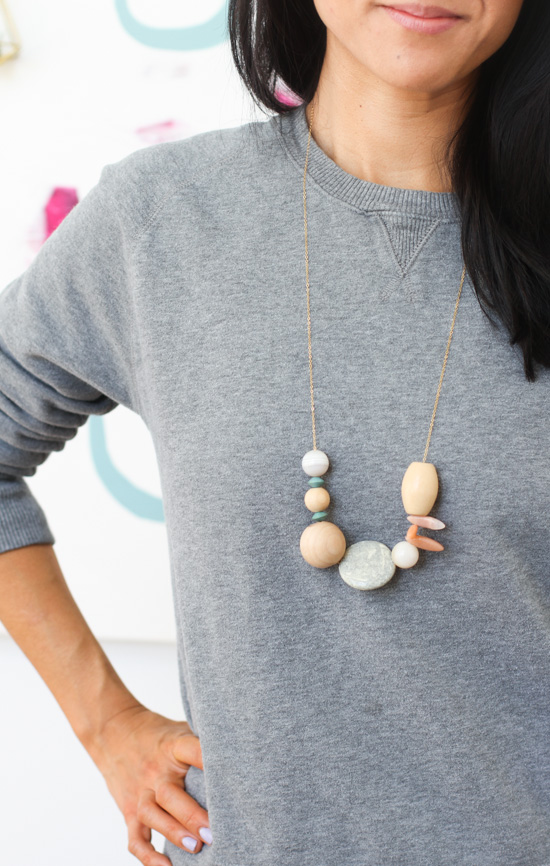 Asymmetrical Necklace DIY