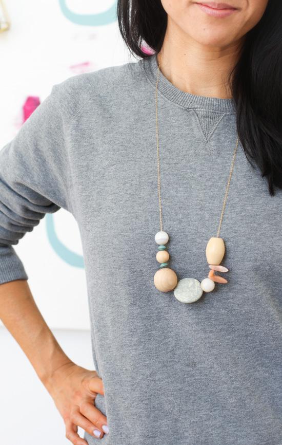 Asymmetrical Necklace DIY