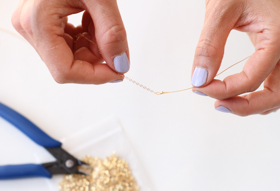 How to make an asymmetrical, long necklace