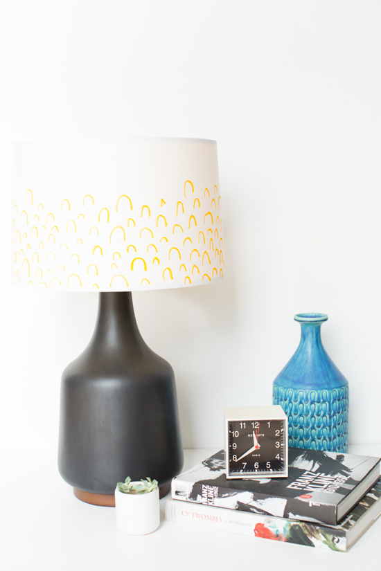 DIY Easy Patterned Lampshade