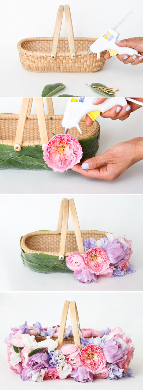 How To Make A Diy Easter Basket With Fresh Flowers