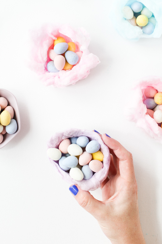 DIY Cotton Candy Nests for Easter