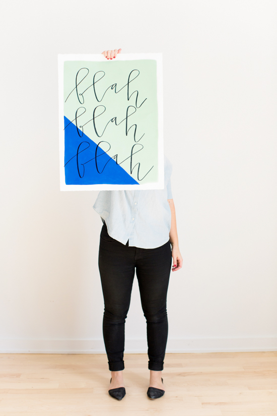 DIY // How to Make Large Scale Hand Lettered Wall Art in Less than an Hour