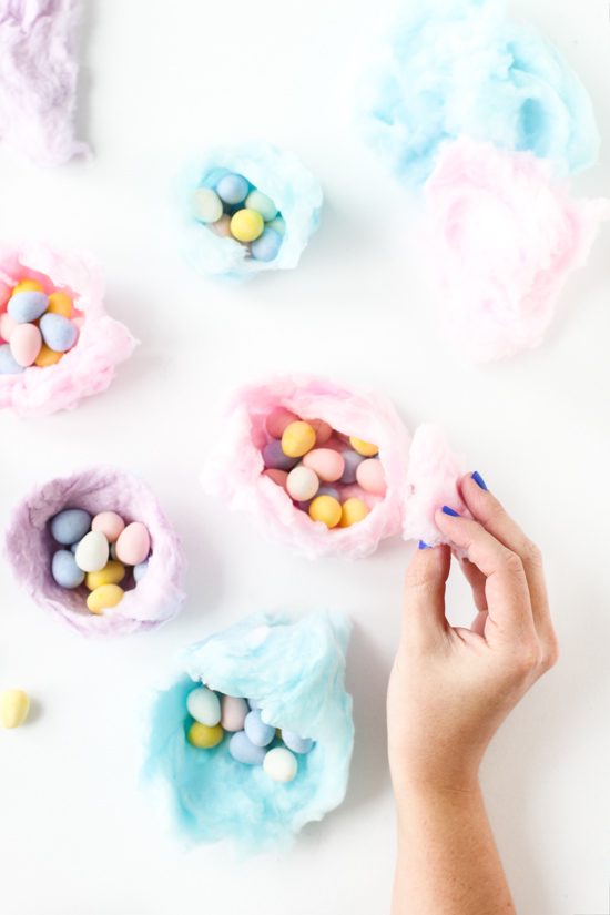 Oh My Sugar High How To Make Edible Cotton Candy Nests For