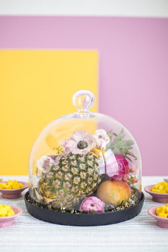 Fruit + Flower Centerpiece DIY