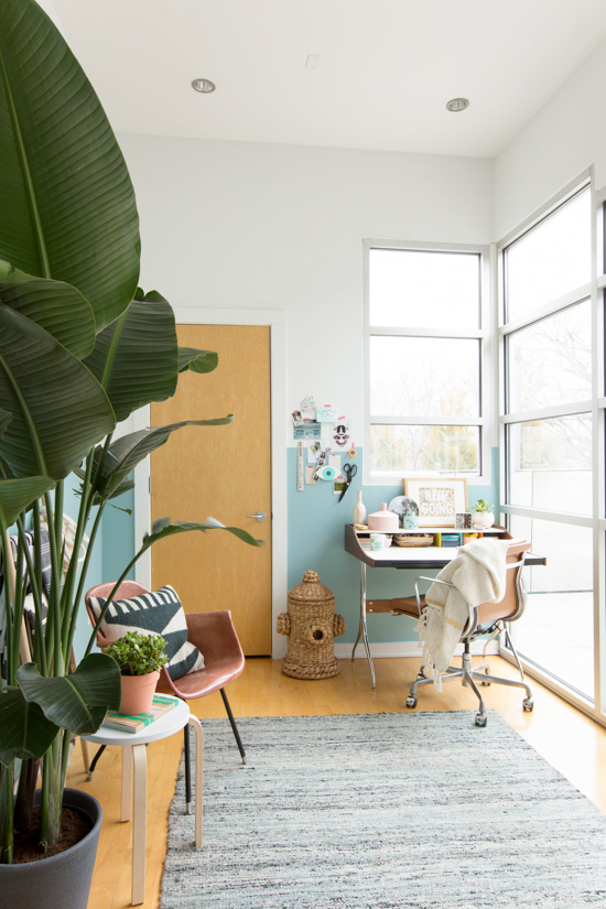Colorful Modern Office Makeover