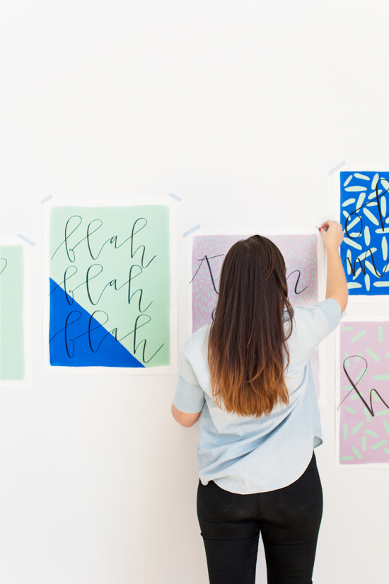 How to Make Large Scale Budget-Friendly Wall Art in Less than an Hour