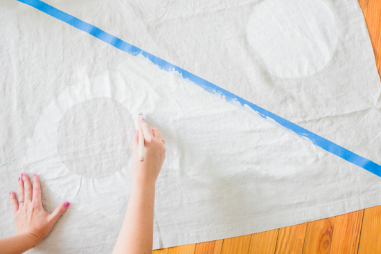 How to make a giant picnic blanket with a canvas drop cloth