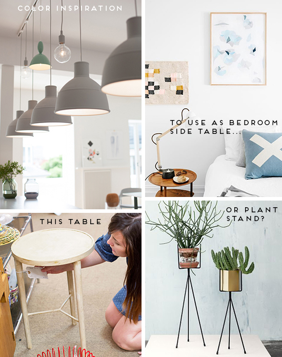 Inspiration Board for Side Table Makeover
