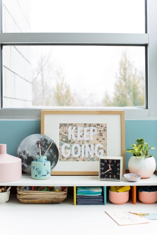 Desk Details // A Creative, Modern Workspace Makeover