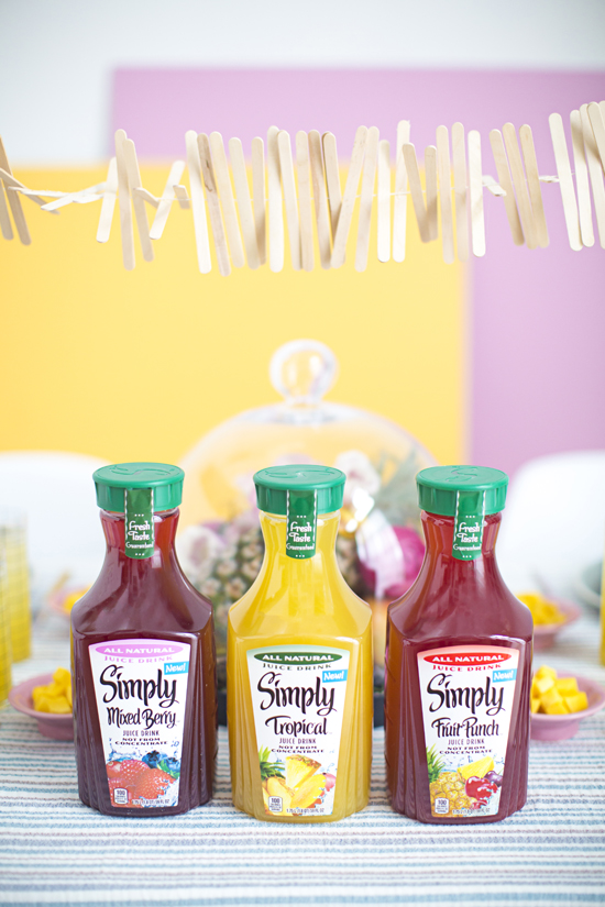 A Spring Party with Simply Juice Drinks