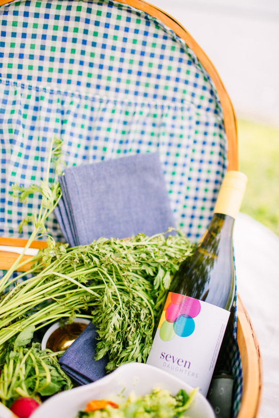 A bottle of wine in my picnic basket