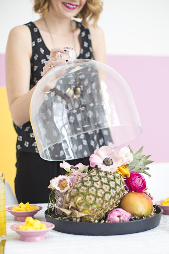 DIY Floral Fruit Centerpiece