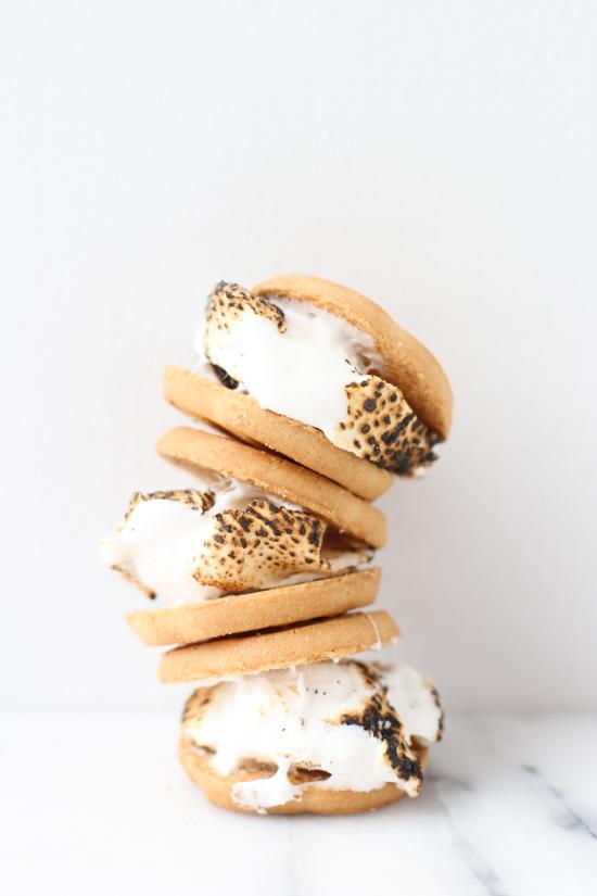 Toasted Marshmallow Shortbread Sandwiches